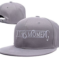 ZZZB In This Moment Band Logo Adjustable Snapback Embroidery Hats Caps - Grey