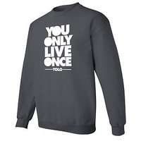 You Only Live Once Drake CREWNECK sweatshirt OVOxo YOLO lil wayne shirt S-5X 1