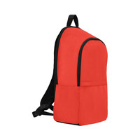 Pomegranate Solid Fabric Backpack for Adult (Model 1659) | ID: D2806012