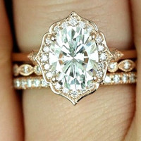 1.50ct Oval Diamond Engagement Ring GIA certified 18kt Yellow JEWELFORME BLUE