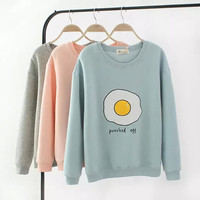 Egg Letter Print Sweater