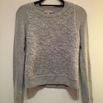 Gray Boucle Cropped Sweater (Banana Republic)