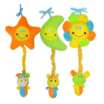 Kids Baby Toys Soft Animal Music Mobility on the Bed Toy Stroller Bells Developmental Stretched Toy
