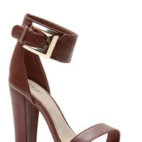 Chunky Belted Single Sole Heels
