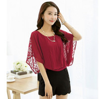 Casual Batwing Blouse