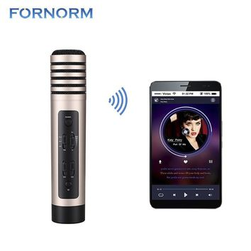 Wireless Karaoke Microphone Professional Handheld Microphone Bluetooth Speaker For Car Smartphone Speaker PC Or Tablet