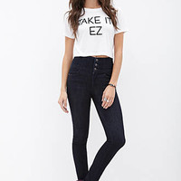 FOREVER 21 High-Waisted - Skinny Jeans