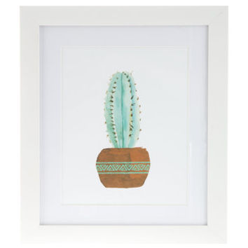 Watercolor Cactus Framed Wall Decor | Hobby Lobby | 1294321