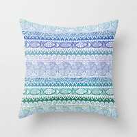 Sea of Stripes Throw Pillow by Janet Broxon