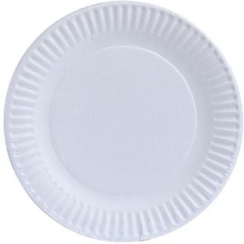 White 6'' Paper Plates Case Pack 20