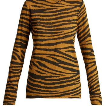 Tiger-print long-sleeved cotton T-shirt | Proenza Schouler | MATCHESFASHION.COM US