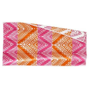 Koh Pink and Coral Beach Towel by John Robshaw