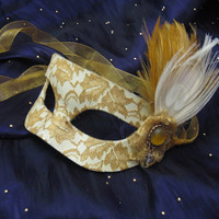 Lady Belle Handmade Leather Masquerade Mask