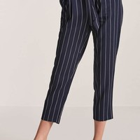 High-Waist Pinstripe Pants