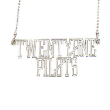 Twenty One Pilots Logo Nameplate Necklace