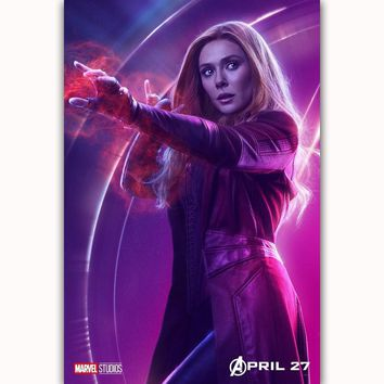 MQ3559 Avengers Infinity War Scarlet Witch Movie Characters Film Art Poster Silk Canvas Home Decoration Wall Picture Printings
