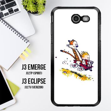 Calvin And Hobbes X4727 Samsung Galaxy J3 Emerge, J3 Eclipse , Amp Prime 2, Express Prime 2 2017 SM J327 Case