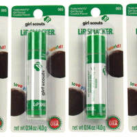 Girl Scouts Thin Mints Cookie Flavor 065 Lip Smacker Gloss Lot of 4 Made USA