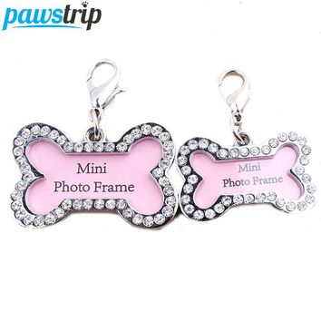 1pc Bone Shaped Pet Tag Set Lost Dog Id Address Name Label Tag Stainless Dog Puppy Pendant