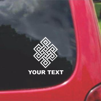 Eternal Endless Knot Irish Scottish Symbol Sticker Decal 20 Colors To Choose From.