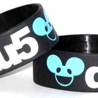 ROCKWORLDEAST - Deadmau5, Rubber Wristband, Black Logo