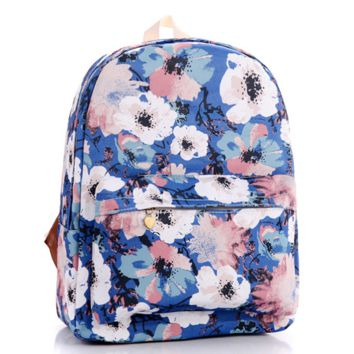 Floral Painting Canvas Lightweight Backpack