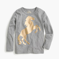 crewcuts Girls Foil Horse T-Shirt