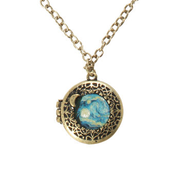 LOVEsick Starry Night Locket Necklace
