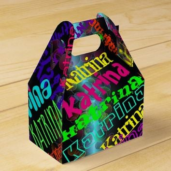 Personalized Colorful Neon Lights Favor Box