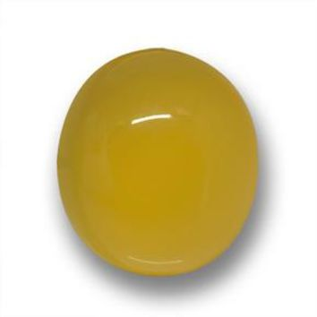 3.62 ct  Oval Cabochon Yellow Agate 10.7 x 9.6 mm