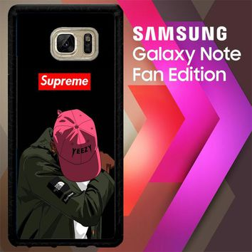 Yeezy Taught Me Supreme X5006 Samsung Galaxy Note FE Fan Edition Case