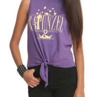 Disney Tangled Rapunzel Tie Front Muscle Top