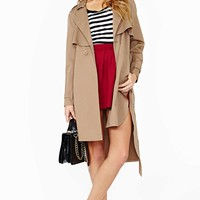 Nasty Gal Secret Admirer Trench Coat