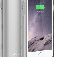 iPhone 6S Battery Case, iPhone 6 Battery Case, ZVOLTZ ZT6 Series Charger Charging Case for iPhone 6 and 6s (4.7 Inches) [1 Year WARRANTY] - [Silver/Clear] - 3100mAh [Apple MFI Certified] - External Protective iPhone 6 Charger Case / iPhone 6 Charging Case