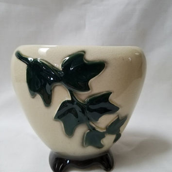 Christmas Sale Royal Copley Footed Ivy Planter, Vase (825)
