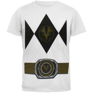Power Rangers - White Ranger Uniform Costume Adult T-Shirt