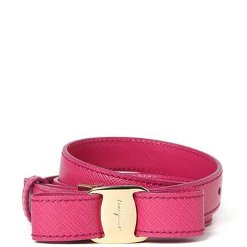 Salvatore Ferragamo Women's 23A481567625agatarosa Purple Leather Belt
