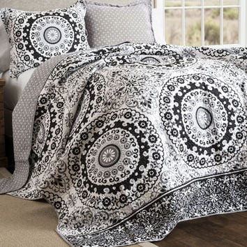Maribella Boho Mandala Style 3 PC Quilt Bedding SET