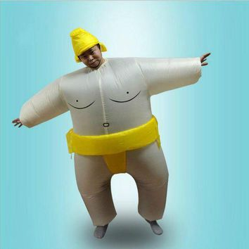 CREY6F Adults Kids Inflatable Sumo Suits Wrestler Costume Outfits for Men Women Children Fat Man Airblown Sumo Run Cosplay Halloween