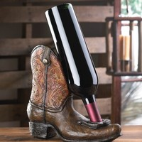 Lucky Cowboy Boot Design Bottle Holder