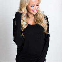 (Black Friday) Soft and Perfect Dolman Top Black