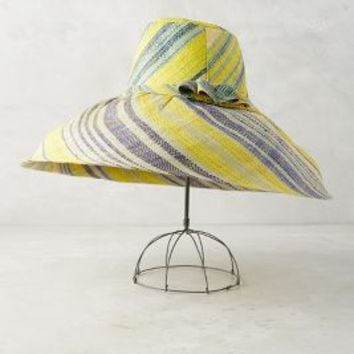 Buenos Sun Hat by Anthropologie in Yellow Size: One Size Hats