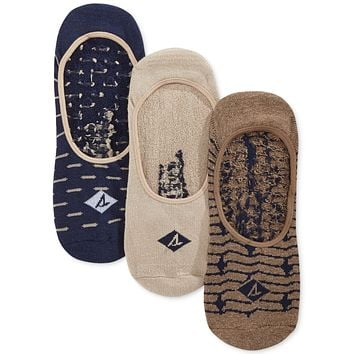 Sperry 3-Pk No-Show Socks Amphora Heather