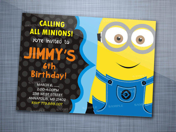 Best Minion Birthday Party Invitations Products On Wanelo - Minions birthday invitation template