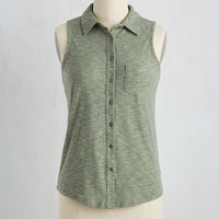 Teachers' Lounging Top in Sage