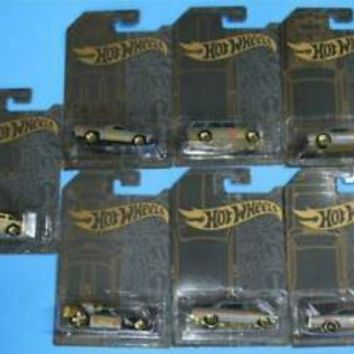 New 2019 Hot Wheels Compete Satin and Chrome Set of 7 Cars with Chase