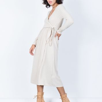 Comfy Casual Wrap Dress