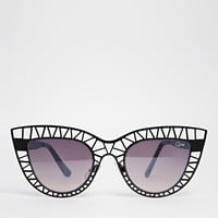 Quay Australia Steel Cat Cut Out Cat Eye Sunglasses