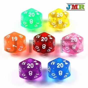 High Quality 7PCS TRPG D20 Dice for Dungeons & Dragons 20 Sided Games Dices 7 Colors Desktop Game Pieces for Dnd,rpg