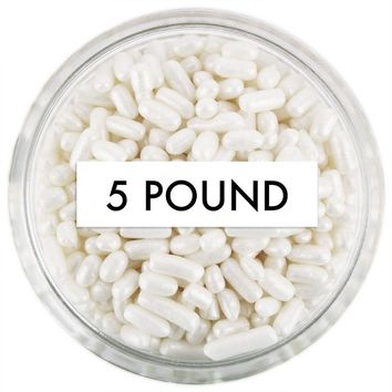 Pearly White Jimmies 5 LB